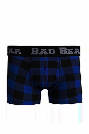 Bad Bear CHECKED Erkek Boxer 18.01.03.013-Navy