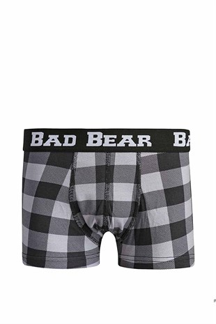 Bad Bear CHECKED Erkek Boxer 18.01.03.013-Raven